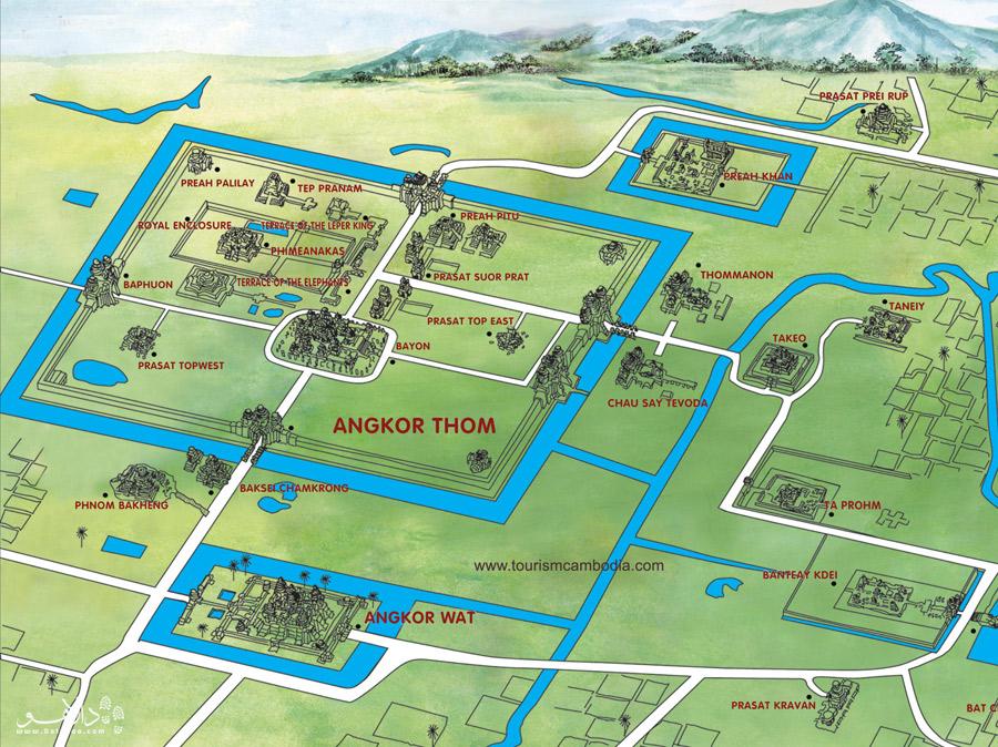 نقشه انگکور