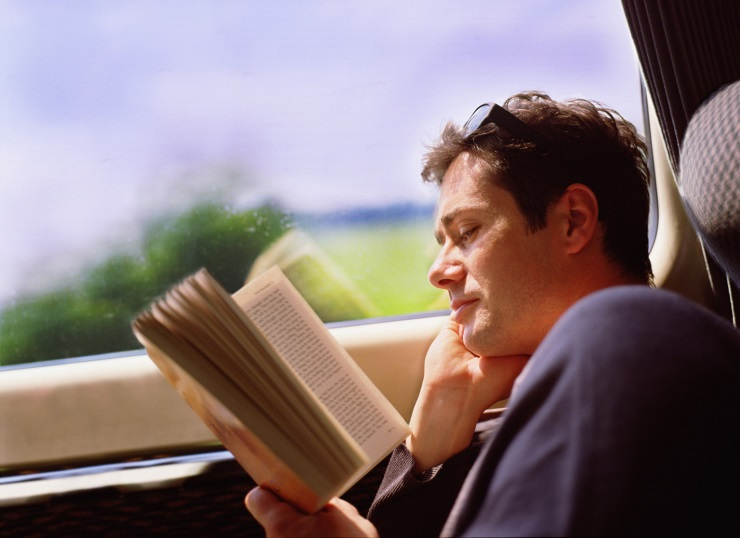 مطالعه در اتوبوس