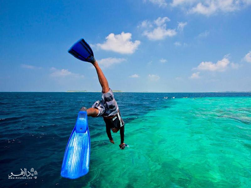 شیرجه در آبهای مالدیو