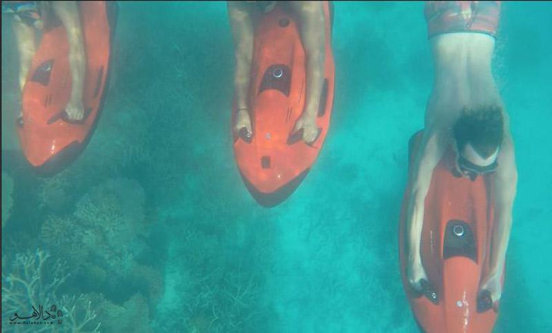 شنا در عمق آب مالدیو