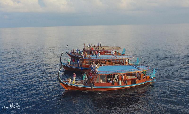 گشت با قایق در مالدیو
