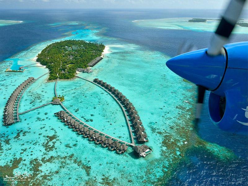 نمایی از جزیرهای در مالدیو