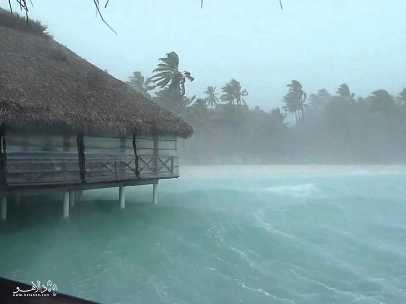 بارانهای موسمی در مالدیو