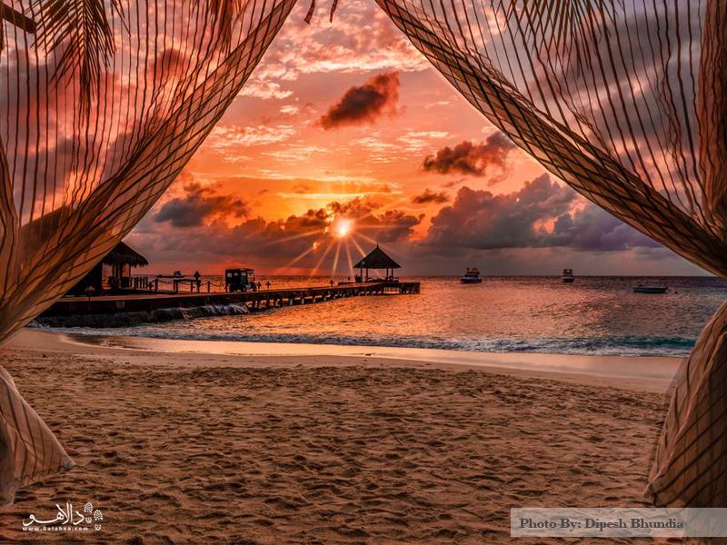 غروب زیبای مالدیو