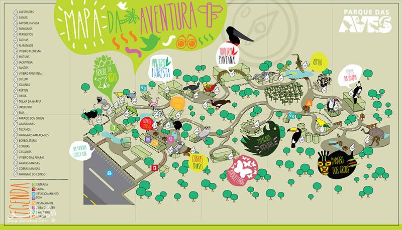 نقشه باغ پرندگان